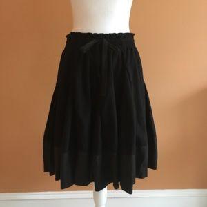Anthropologie Black Knit Full Skirt